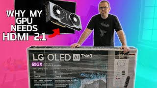My GPU is NOT ENOUGH for this 120Hz 4K OLED TV - LG 65GX Gallery Series
