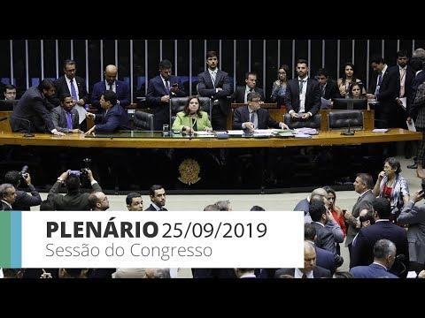 Sessão do Congresso Nacional - Votação de vetos presidenciais - 25/09/19 - 17:43