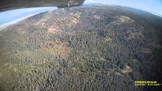 Flying into West Yellowstone from Southern Idaho