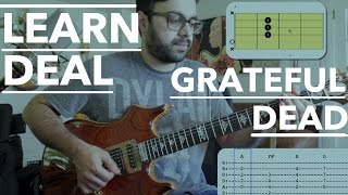 Deal Grateful Dead Guitar Lesson ► Beginner Jerry Garcia Style Tutorial with Tab and Chords