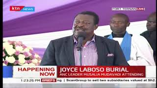 Musalia Mudavadi's speech at Joyce Laboso's final send-off