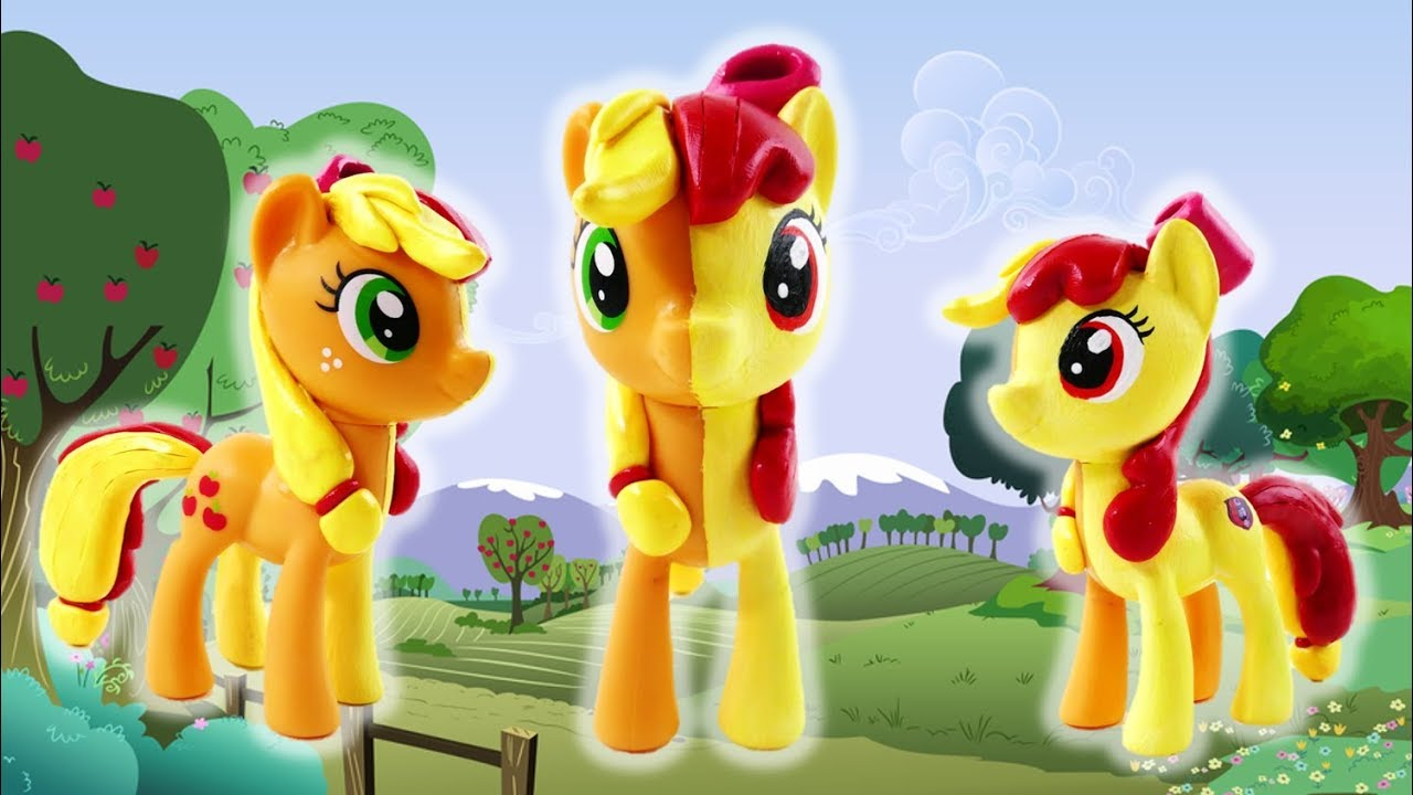 MLP Apple Bloom Applejack Split Pony Custom Pony DIY Tutorial