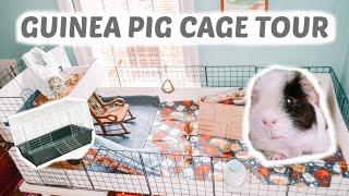 GUINEA PIG CAGE TOUR | DIY C&C Cage |