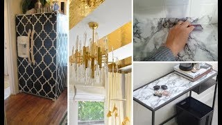 Contact Paper Decorating Ideas   DIY Marble Table & Desk   DIY Room, Apartment Kitchen