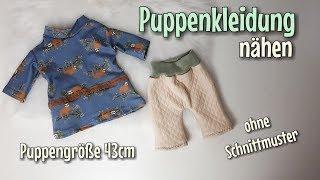 Puppen Set - Nähanleitung OHNE Schnittmuster - Für Anfänger - Nähtinchen
