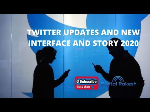 Twitter updates and new interface and story