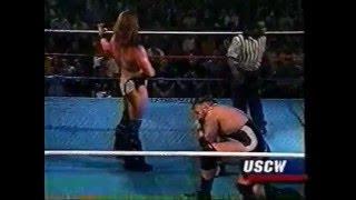 Wardrobe Malfunction: Wrestler's Trunks Rip In Half During Match