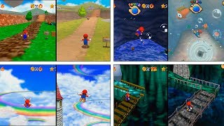 Super Mario 64 | N64 vs NDS | All Levels Comparison | 4K