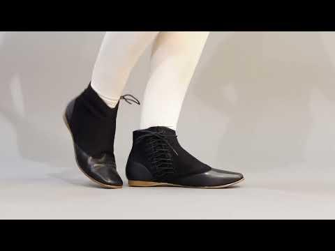 PRE-ORDER Keckley Victorian Side-Lace Boots (Black/Black)(1820-1860)