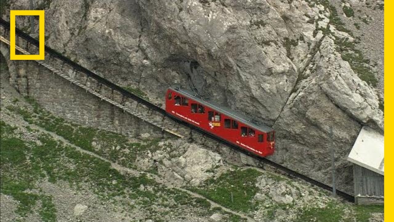 A Swiss Alpine Train Ride is Dizzyingly Steep | National Geographic thumbnail