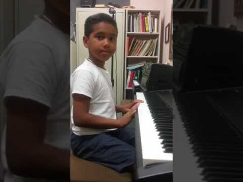 Piano student Dupree JR, Playing  star wars, see other you tube of his first lesson playing Jingle  bells