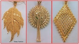 Latest Light Weight Gold Pendents Designs | Chain Locket, Long Chains With Pendants,