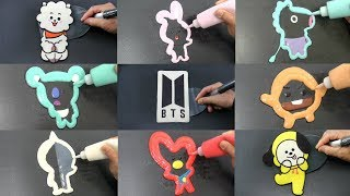 BTS Complete Set BT21 Pancake Art, Sushi, Ice Cream
