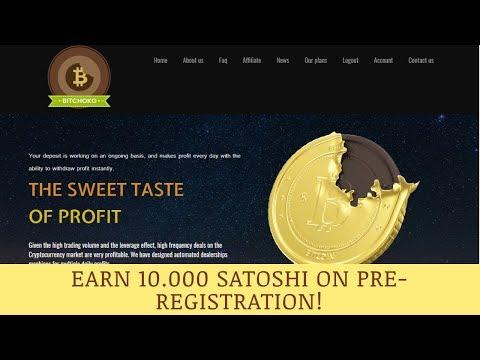 BitChoko Limited отзывы 2019, обзор, Bitcoin Cloud Mining, get Free BONUS 10 000 SATOSHI