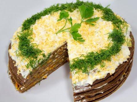 Печеночный торт от Луча. Liver cake