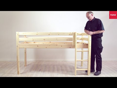 FLEXA Classic Mid high Bed Straight Ladder Assembly Instruction