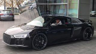 JP holt seinen R8 ab + Soundcheck Audi R8 V10 Plus