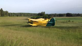 preview picture of video '2013-05-19 Antonov An-2 startup and takeoff HD'