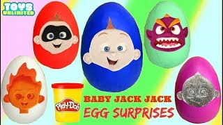 Opening Incredibles 2 Baby Jack Jack Superpower Play-Doh Eggs