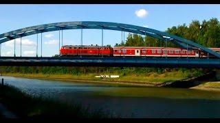 preview picture of video 'Wendlandbahn BR 218 überquert den Elbeseitenkanal bei Wendisch Evern'