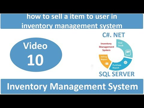 how to sell a item to user in inventory management system