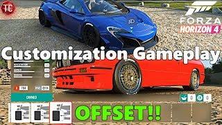 Forza Horizon 4: CUSTOMIZATION GAMEPLAY!! Off-Set Adjustment, NEW Widebody McLaren, and DRIFT ROAD!!