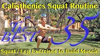 Calisthenics Squat Routine - The 35 Best Squat & Leg Exercises to Build Muscle