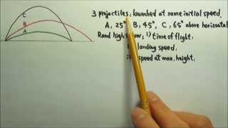 Kinematics 29: Projectile Motion: Ranking Questions 2