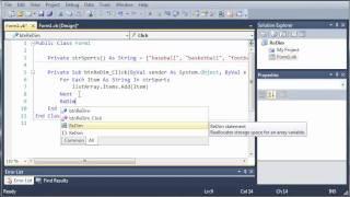 Visual Basic Tutorial - 75 - Dynamic Arrays