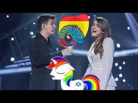 Еврейский пони реагирует на Испанию на Евровидении 2018