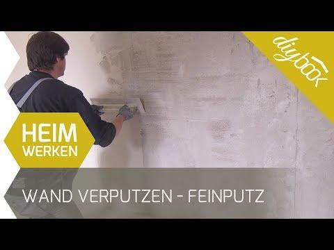 Wand verputzen - Feinputz auftragen