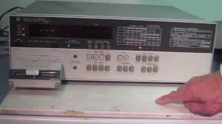 HEWLETT PACKARD 4262A Digital LCR meter 動作確認