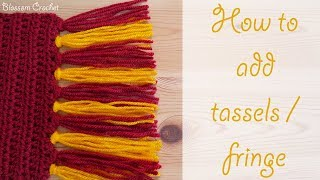 Absolute Beginner Crochet Series Ep 10: How To Add Tassels / Fringe To Your Projects