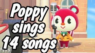 Poppy sings 14 K.K. Slider songs Animal Crossing