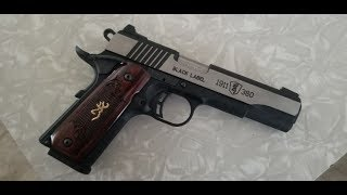 Browning 1911 380 Black Label Review, Shooting, And Disassembly