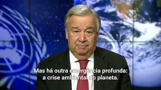 """No Dia da Terra, chefe da ONU propõe seis ações-chave para evitar """"ruptura climática"""""""