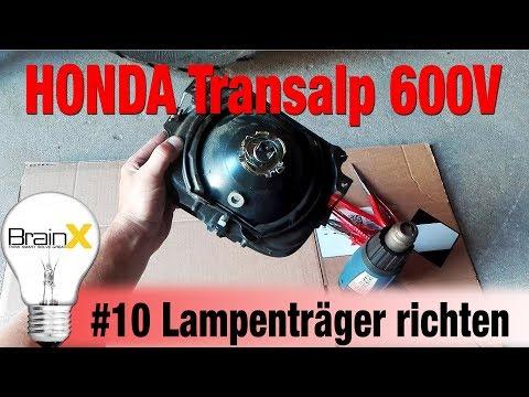 #10 Honda Transalp 600V Lampenhalter Lampenträger richten