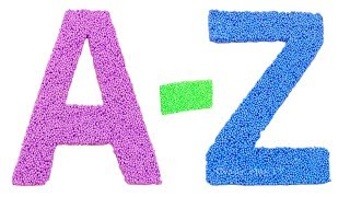 Learn Colors with Squishy Glitter Foam |Learn Animals for Kids |Learn Alphabet from A to Z |ABC Song