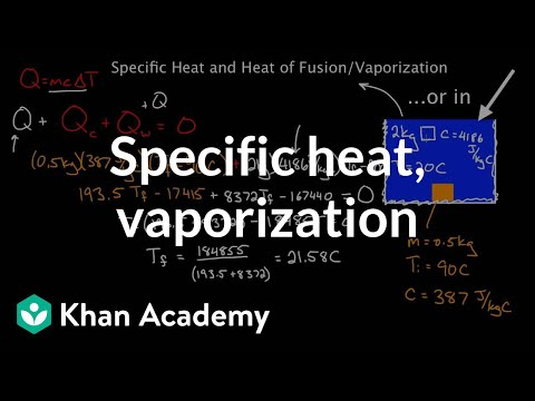 Specific heat and latent leat of fusion and vaporization | Chemistry | Khan Academy