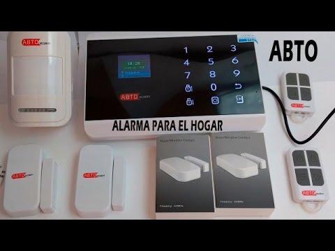 ABTO - Sistema de alarma para casa. Puertas, detector de movimiento, aviso al móvil