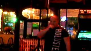 Lee at MargariteGrille for Wednesday Night Karaoke in downtown Hendersonville, NC