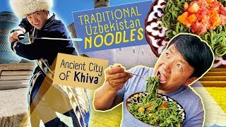 TRADITIONAL Uzbekistan Noodles, FIVE STAR Breakfast Buffet & Exploring Ancient City of Khiva