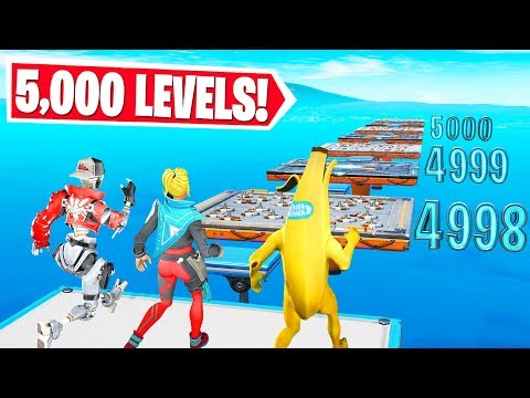5,000 LEVEL CRAZY DEFAULT DEATHRUN (Fortnite Creative Mode)