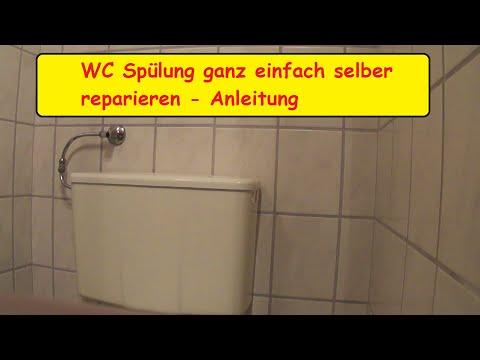 Toilettenspülung selber reparieren / WC Spühlkasten selbst entkalken / Toilettenspülkasten Anleitung