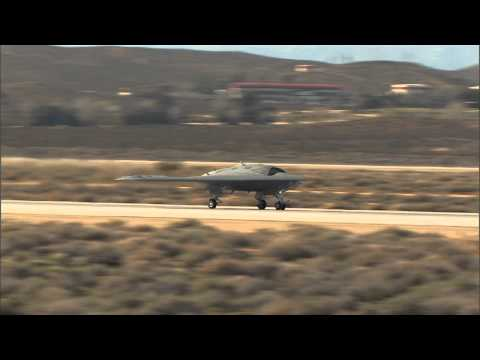 Video: X-47B Unmanned Stealth Bomber Completes First Test Flight