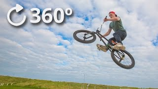 360º Getting Jumped Over by a BMX - Slow Motion 4K