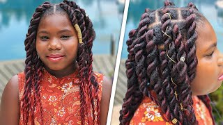 Paisley's Jumbo-Twist Braids (2 Methods) | Cute Girls Hairstyles