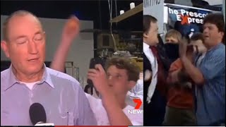 Politicians Fraser Anning And John Prescott Hit By Egg And Punch Back !