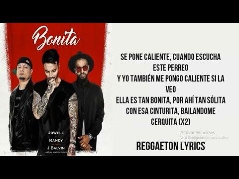 Bonita - J.Balvin Ft Jowell & Randy [Letra] - Audio Official