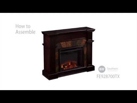 Southern Enterprises Cartwright Electric Fireplace -  Classic Espresso
